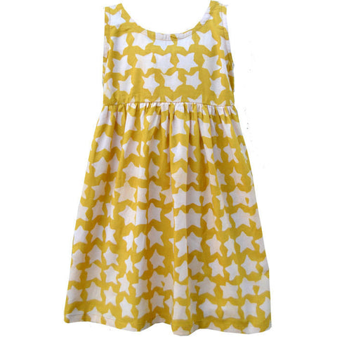 Girls Sundress - Gold Stars - Global Mamas (C) - Native Grace Fair Trade
