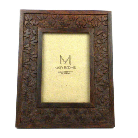Botanical Rosewood Frame- 4x6 - Native Grace Fair Trade