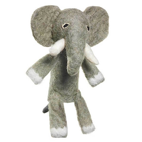Woolie Finger Puppet - Elephant - Wild Woolies (T) - Native Grace Fair Trade