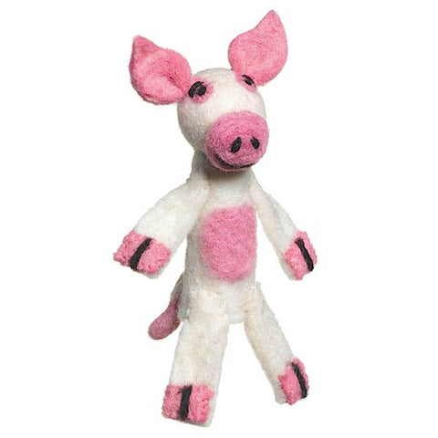 Woolie Finger Puppet - Pig - Wild Woolies (T) - Native Grace Fair Trade