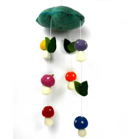 Felt Mushroom Mobile - Global Groove - Native Grace Fair Trade