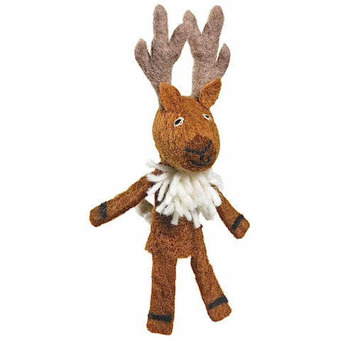 Woolie Finger Puppet - Deer - Wild Woolies (T) - Native Grace Fair Trade