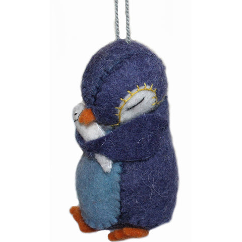 Penguin Felt Holiday Ornament - Silk Road Bazaar (O)