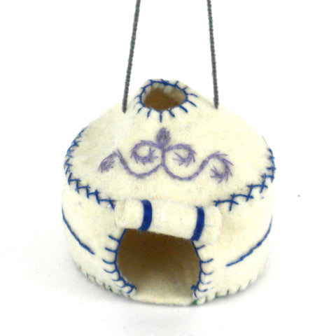 Yurt Felt Holiday Ornament - Silk Road Bazaar (O) - Native Grace Fair Trade