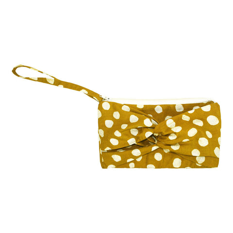 Clutch with a Twist -Pebbles Mustard - Global Mamas (P) - Native Grace Fair Trade