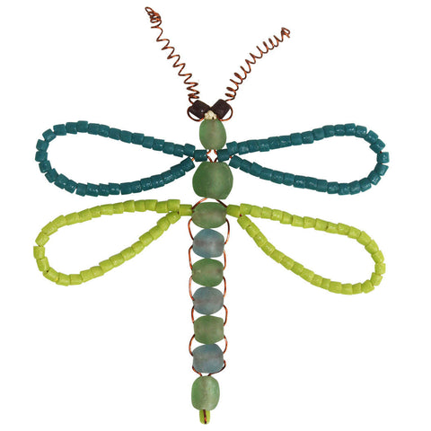 Dragonfly Bead Ornament - Global Mamas (H) - Native Grace Fair Trade