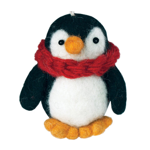 Felt Penguin Ornament - Wild Woolies (H) - Native Grace Fair Trade