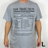 Unisex Fair Trade Tee Shirt Fair Trade Facts - Freeset - Native Grace Fair Trade