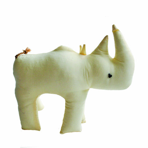 Safari Stuffed Animal Large Rhino - Imani Workshop (G) - Native Grace Fair Trade