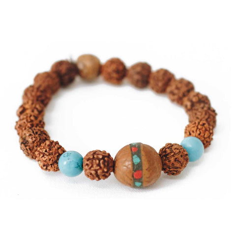 Rudra Blues Wrist Mala Bracelet - Native Grace Fair Trade