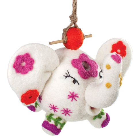 Felt Birdhouse - Flower Power Patty - Wild Woolies - Native Grace Fair Trade