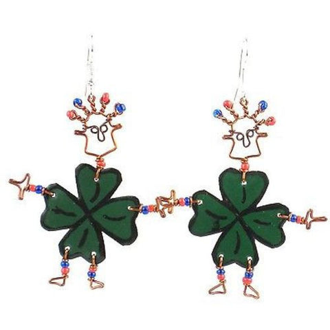 Dancing Girl Luck of the Irish Earrings Handmade and Fair Trade