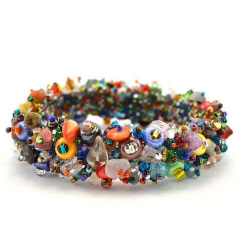 Magnetic Beach Ball Caterpillar Bracelet Multi - Native Grace Fair Trade