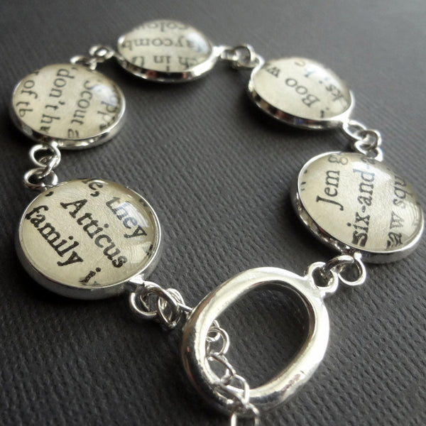 To Kill A Mockingbird Bracelet, Harper Lee Book Jewellery