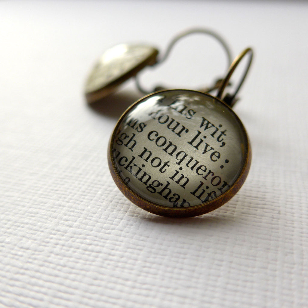 Literary Earrings