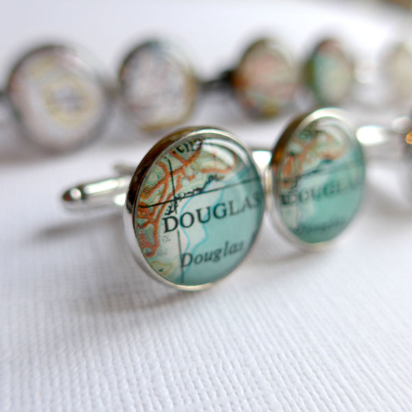 Custom Map Cuff Links