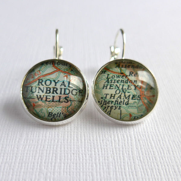 Personalised Map Earrings