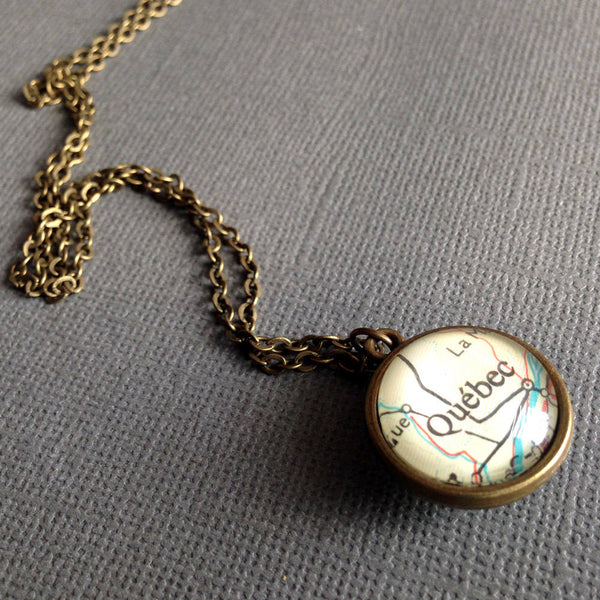 Customised Bronze Pendant, Map Charms, Customizable Necklace, Choose Two Locations, Personalised Bronze Map Pendant, Choose Two Locations
