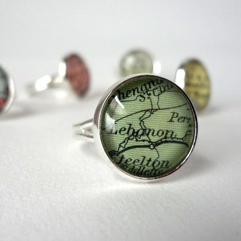 Personalised Ring, Adjustable, Silver Plated, Custom Jewelry, Unique