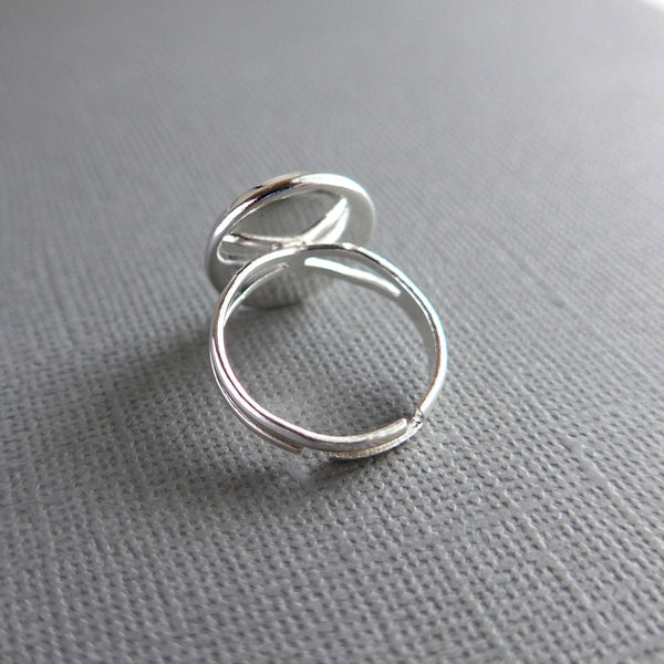 Budget Engagement Wedding Silver Plated Ring