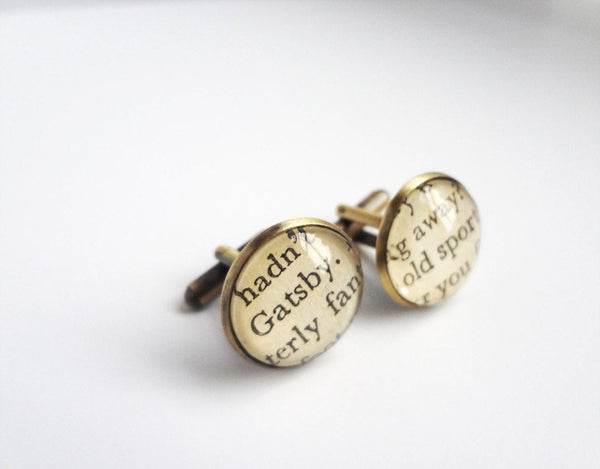 Great Gatsby Cufflinks, Graduation Literature Gift