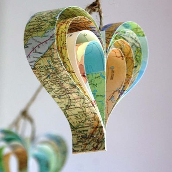 Travel-Themed Vintage Map Garland