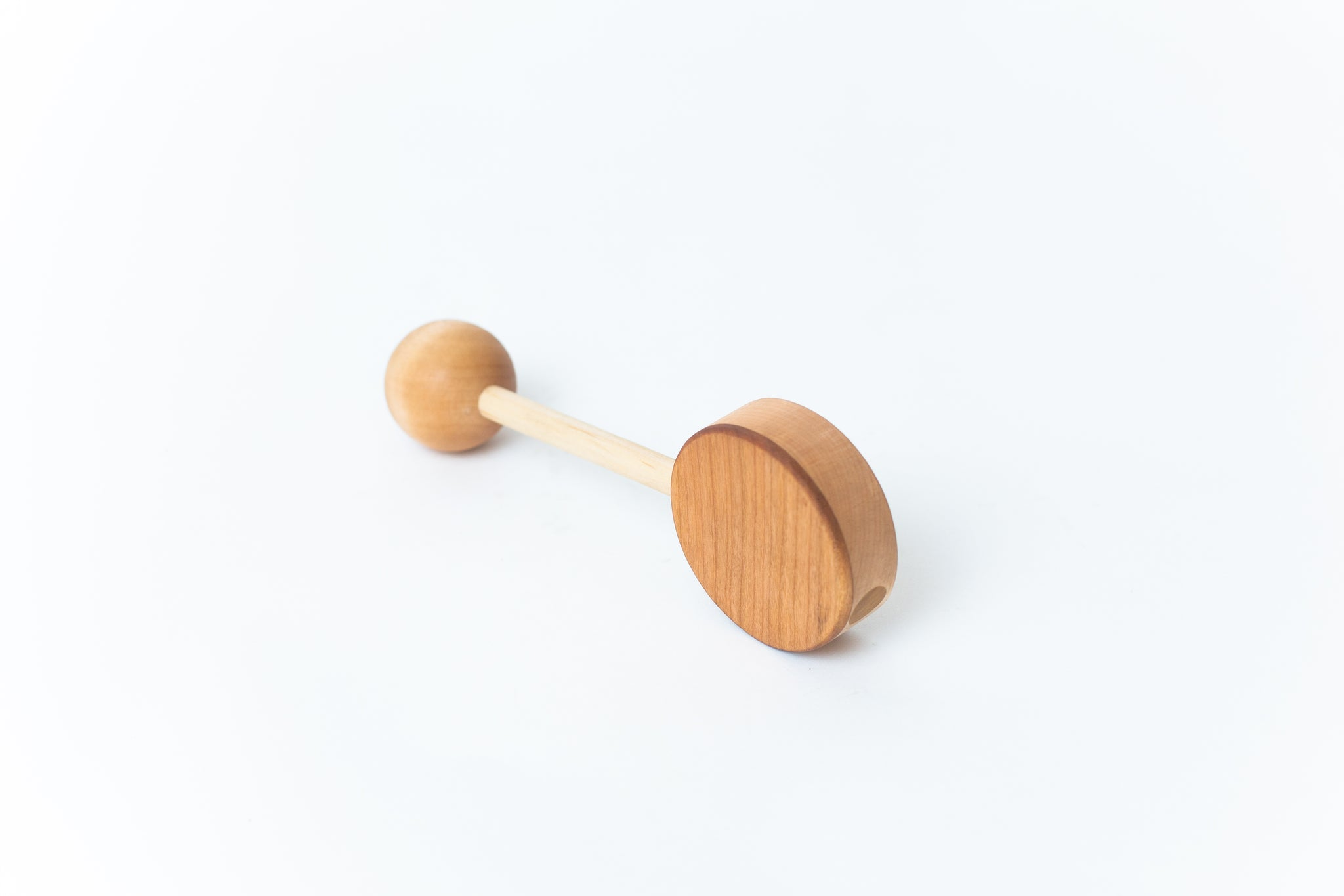 Two-Tone Wooden Rattle