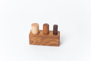 Montessori Three Peg Size Discrimination Block