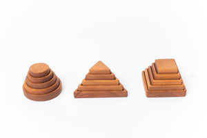 Vertical Stacking Puzzles--Set of 3 (Circle, Square, Triangle)