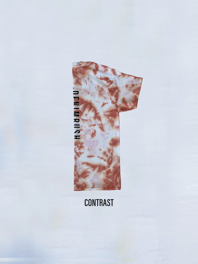 Load image into Gallery viewer, Denimrush Mauve Contrast Tie Dye T-shirts