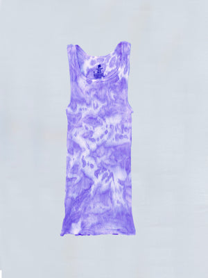 Load image into Gallery viewer, Lavender Tie Dye Tank Top