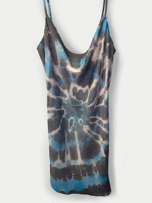 NEW Lighting Tie Dye Satin Slip Dress