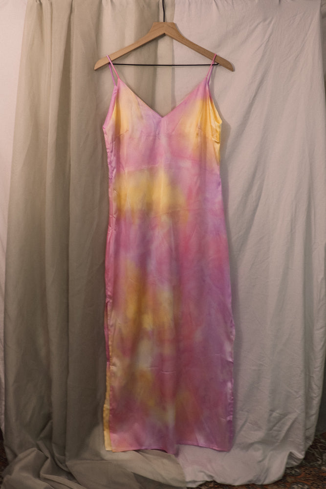 Sherbet Tie Dye Satin Maxi Dress