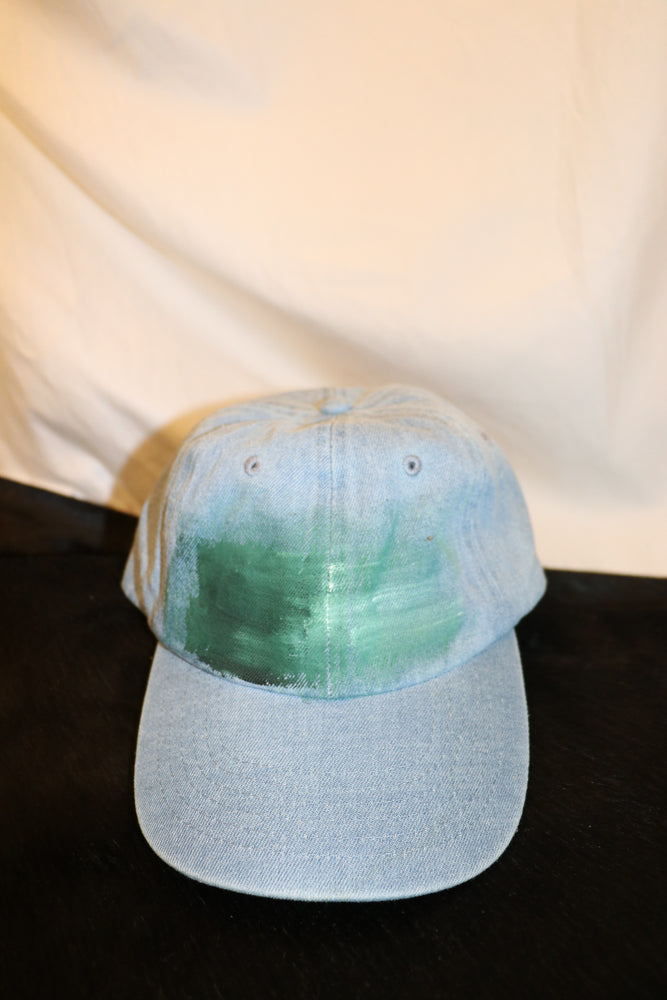 Hand Painted Denim Baseball Hat