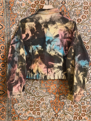 Load image into Gallery viewer, Black & Tan Denim Jacket 2