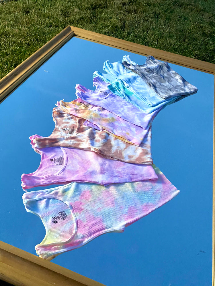 Load image into Gallery viewer, Pink + Lavender Tie Dye Tank Top