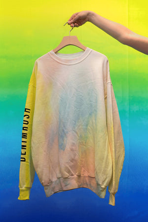Cotton Candy Tie-Dye Crewneck Sweatshirt