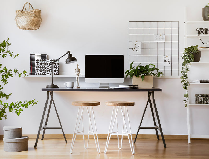office decor tips for how to stay productive plants