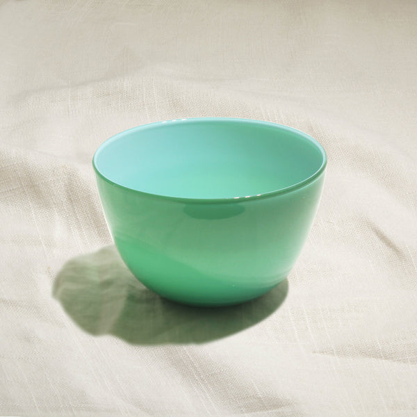 Green Glass Bowl Small