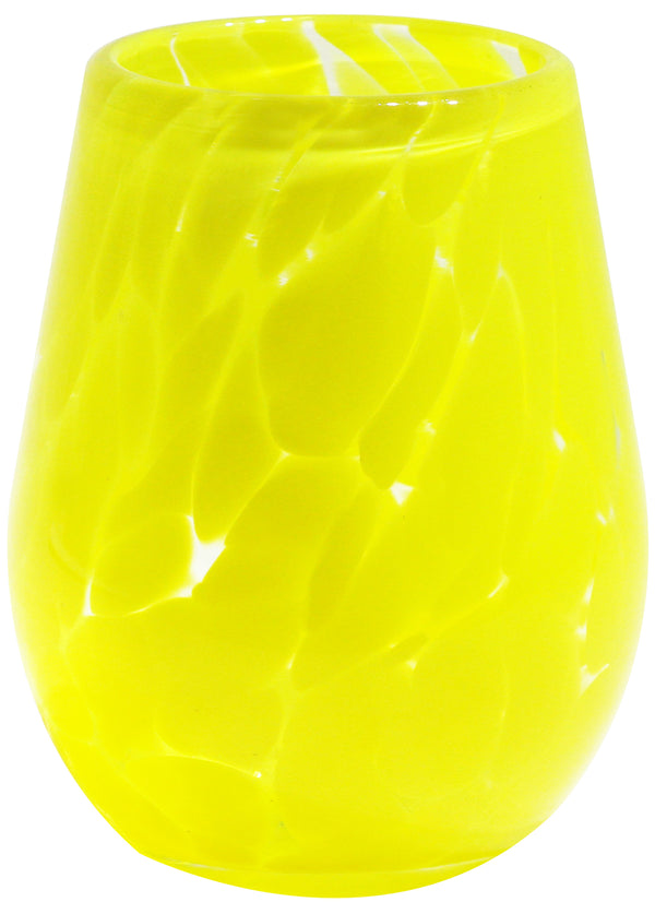 Canary Yellow Wine Glass