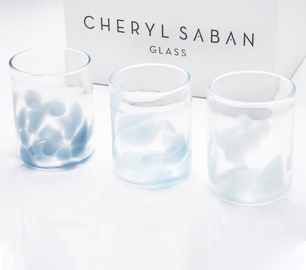 Hues of Blue Flurries Water Glass Set of 6