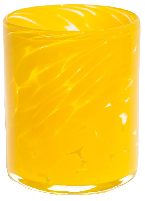 Orange & Yellow Water Glass