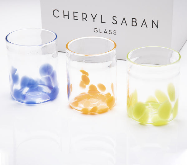 Primary Colors Flurries Water Glass Set of 6