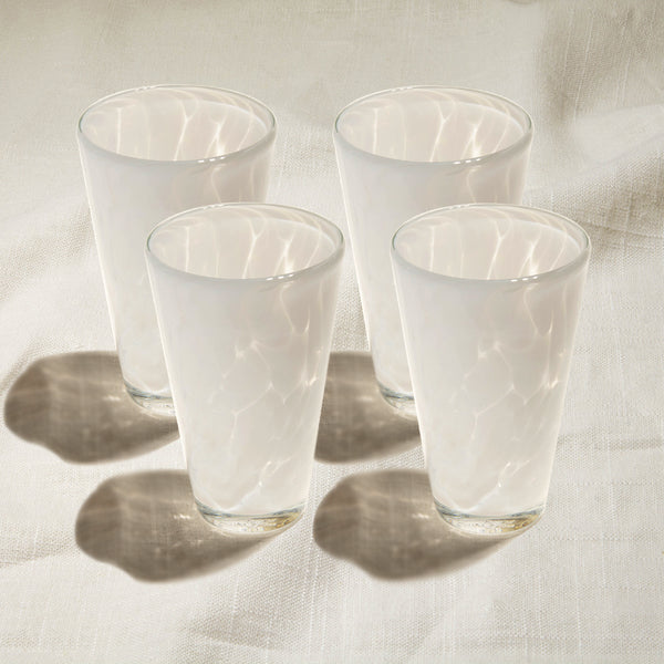 Aspen White Tumbler Set of 4