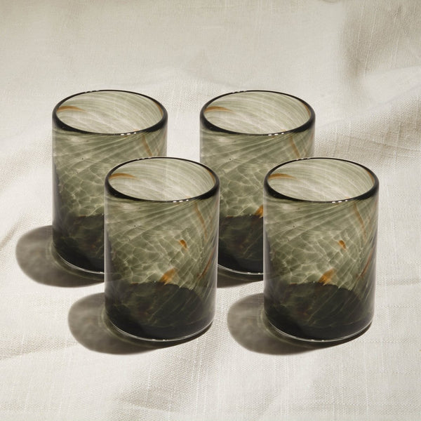 Singapore Grey Glass Set of 4