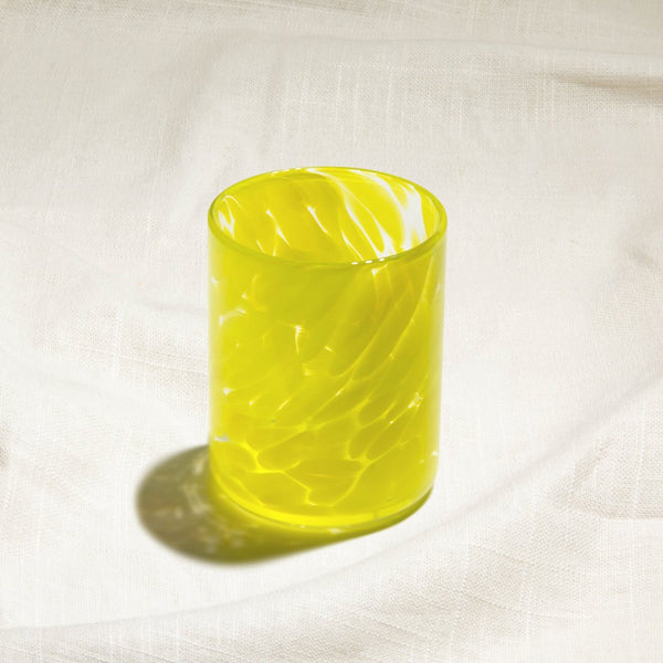 Canary Yellow Water Glass