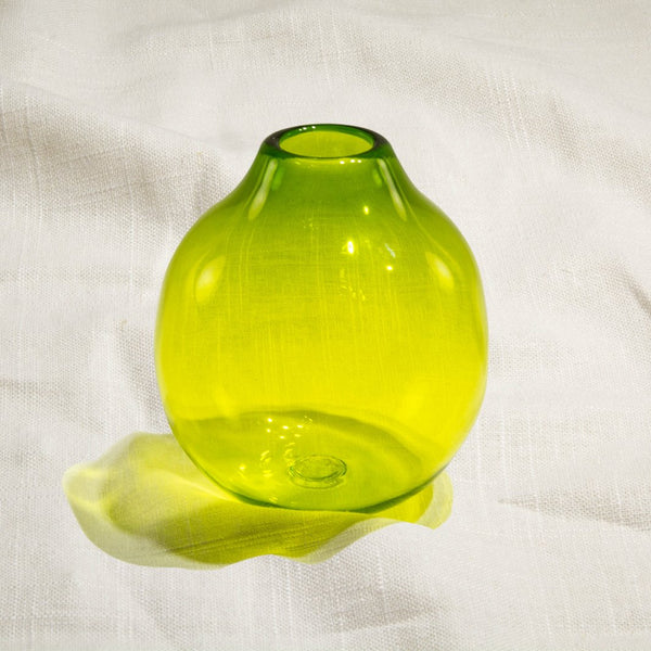 Translucent Green Bud Vase