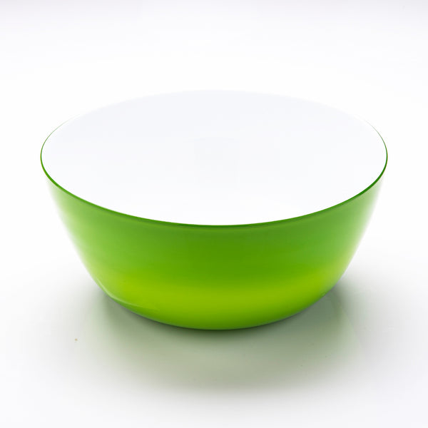 Green and White Glass Bowl