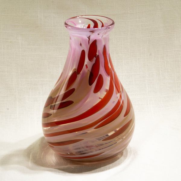 Raspberry & Chocolate Parfait Hourglass Vase