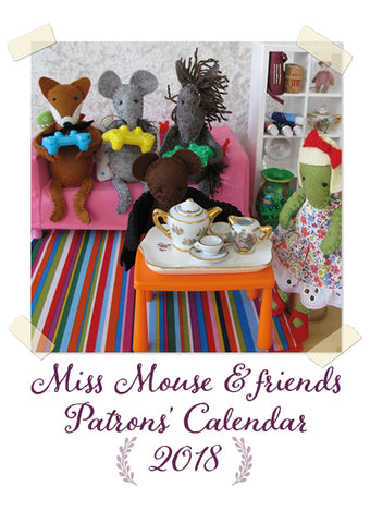 Miss Mouse & friends 2018 calendar